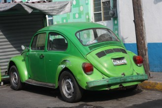 VW Beetle, known as the Vocho, very common in Mexico