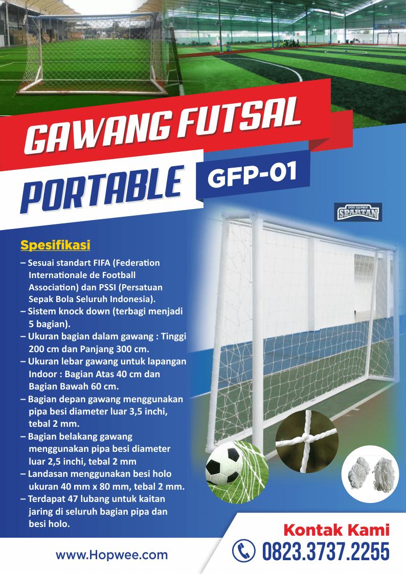 Ukuran Tinggi Dan Lebar Gawang Sepak Bola : ukuran, tinggi, lebar, gawang, sepak, Gawang, Futsal, Portable, Hopwee