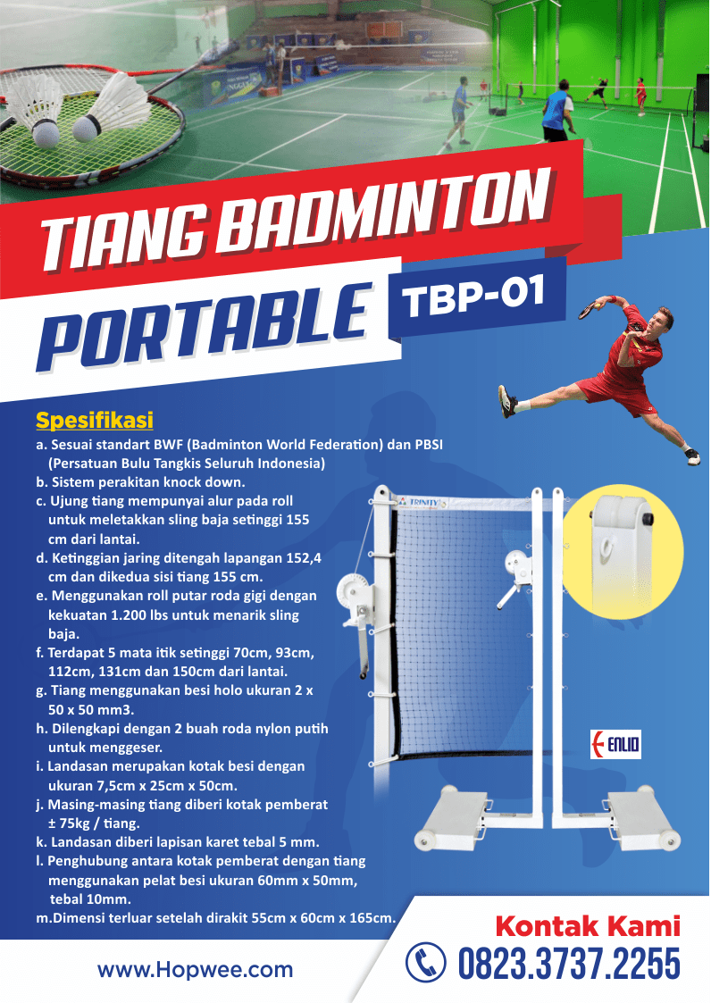Harga Jual Tiang Badminton Portable | GTM