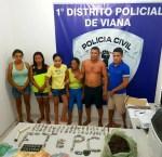 Família é presa por suspeita de tráfico de drogas en Viana
