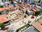 Prédio residencial desaba em Fortaleza e causa ao menos uma morte