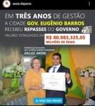 Prefeitura de Governador Eugênio Barros recebeu em três anos de administração mais de oitenta milhões de reais, e a população pergunta, onde foi aplicado?