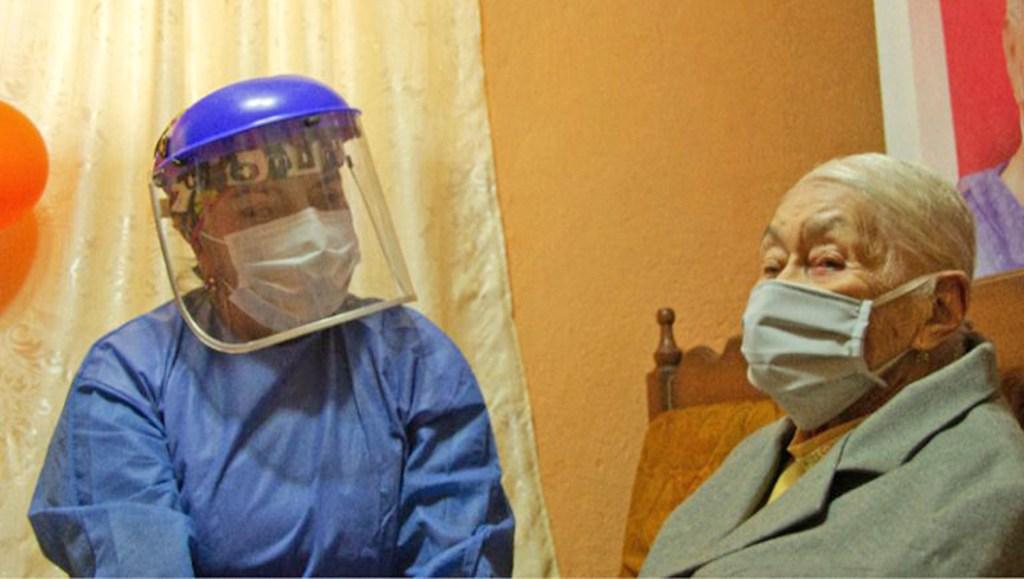 Doña Esther no tuvo la necesidad de ser hospitalizada.