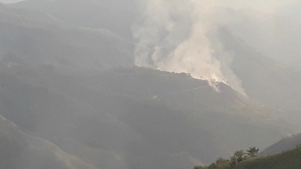 El fuego está dejando sin vegetación al cantón de Zamora Chinchipe.