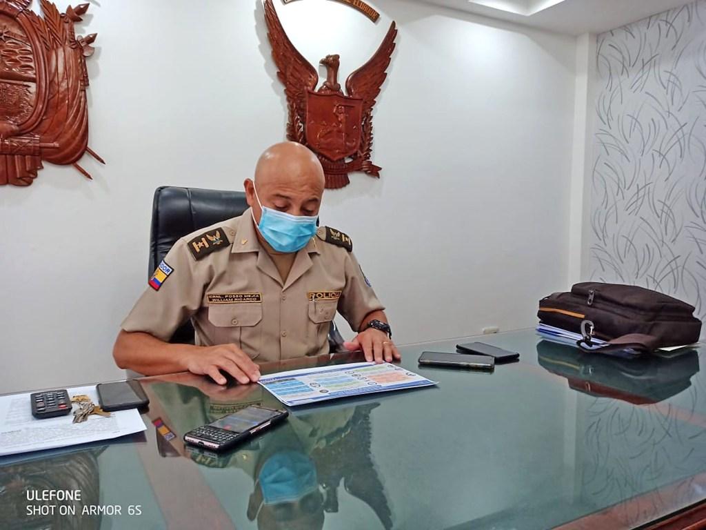 William Posso Mejía pide se respete la labor de los uniformados.