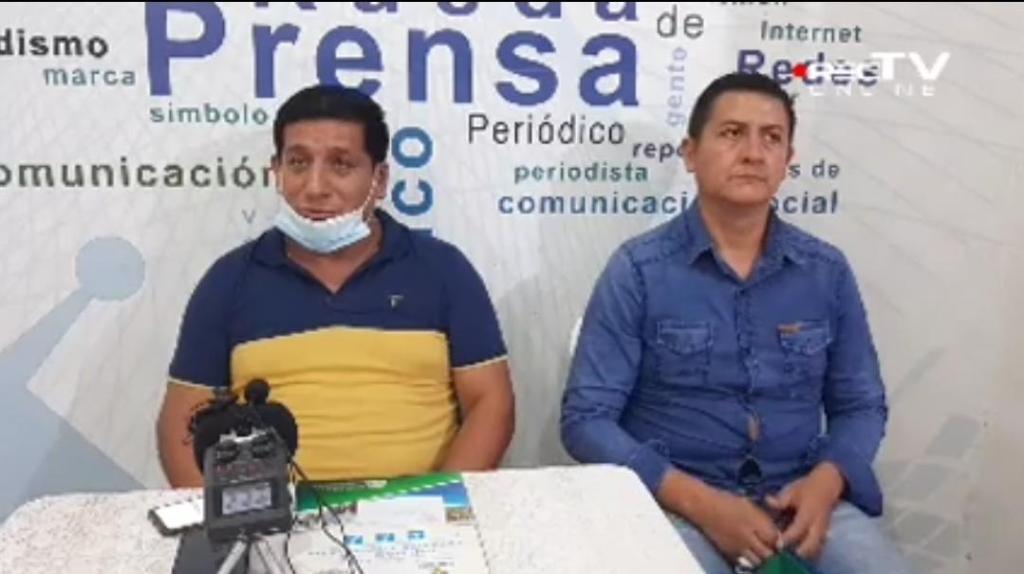 Representantes de la Junta Cívica, durante una rueda de prensa ofrecida este lunes 7 de diciembre. (Foto: captura de pantalla de RecTV)