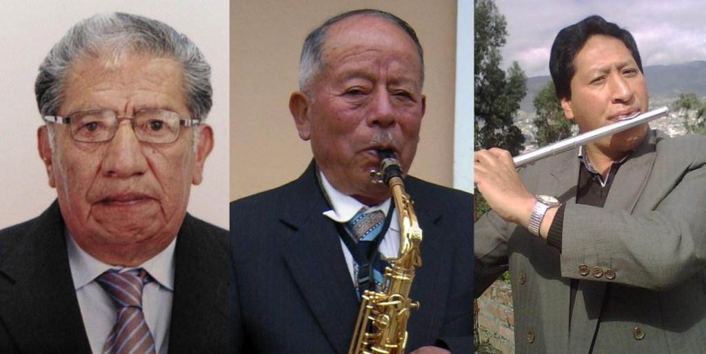 Los tres maestros fueron objeto de un homenaje.