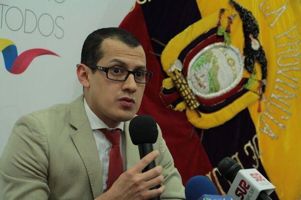 Jhonatan Valdivieso Narváez, intendente General de Policía de Loja.