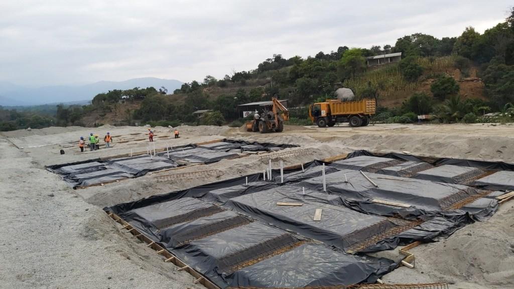 Los trabajos para la construcción de las viviendas avanzan a buen ritmo.