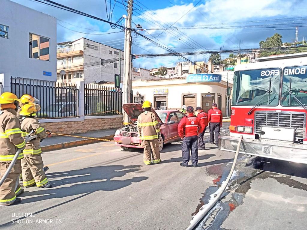 El accidente de tránsito fue en las calles Lauro Guerrero y 10 de Agosto.
