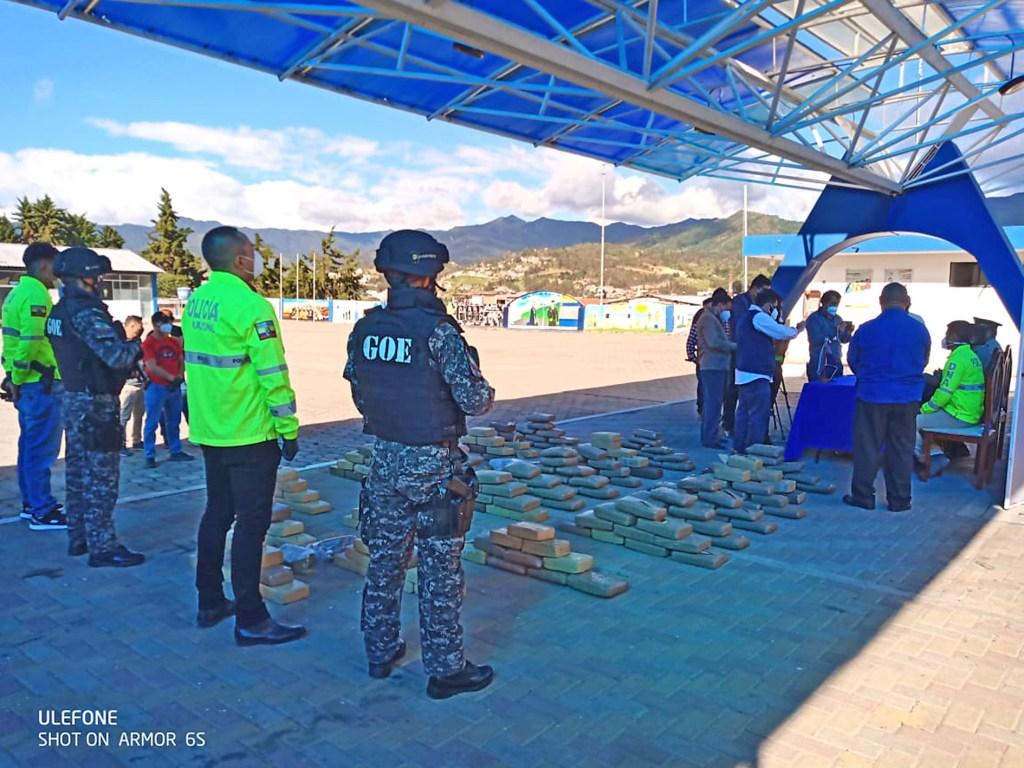 La droga, también, se decomisó en el cantón Espindola.