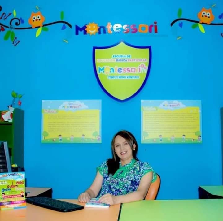 Gabriela Mora, rectora de la Escuela de Educación Básica Particular 'Montessori'.
