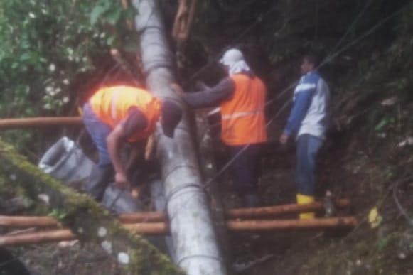El daño se registró en un lugar de difícil acceso.