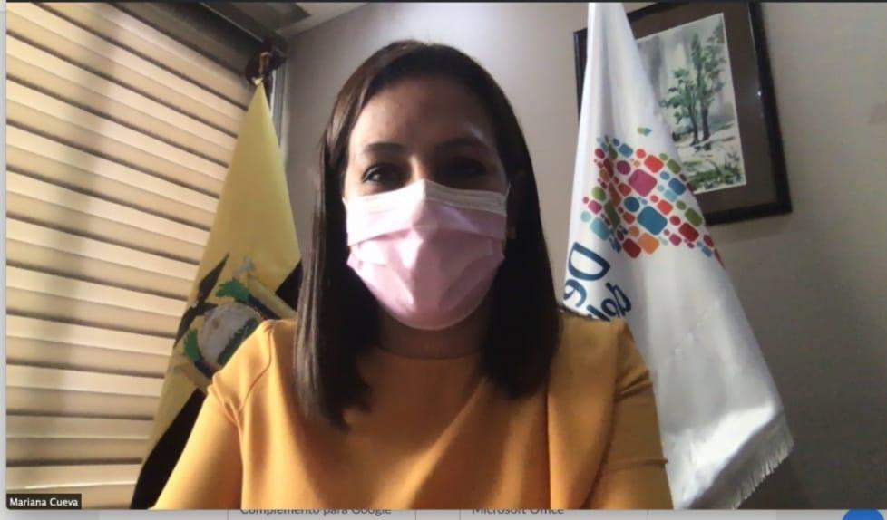 Mariana del Cisne Cueva Guerrero, delegada provincial de la Defensoría del Pueblo de Loja.