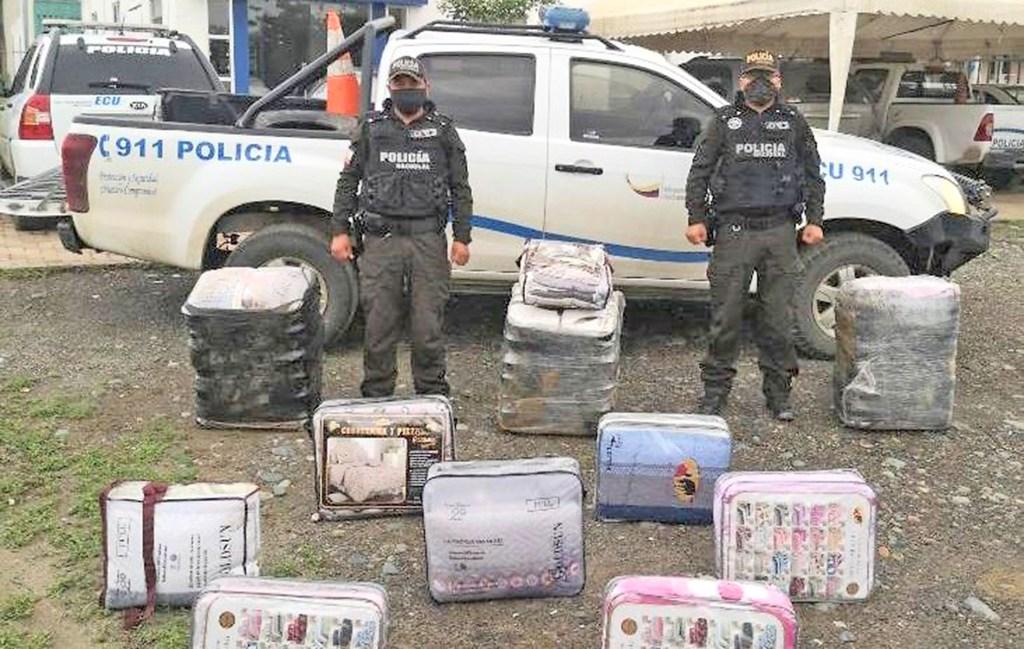 La mercadería se entregó al Servicio Nacional de Aduana del Ecuador (Senae)