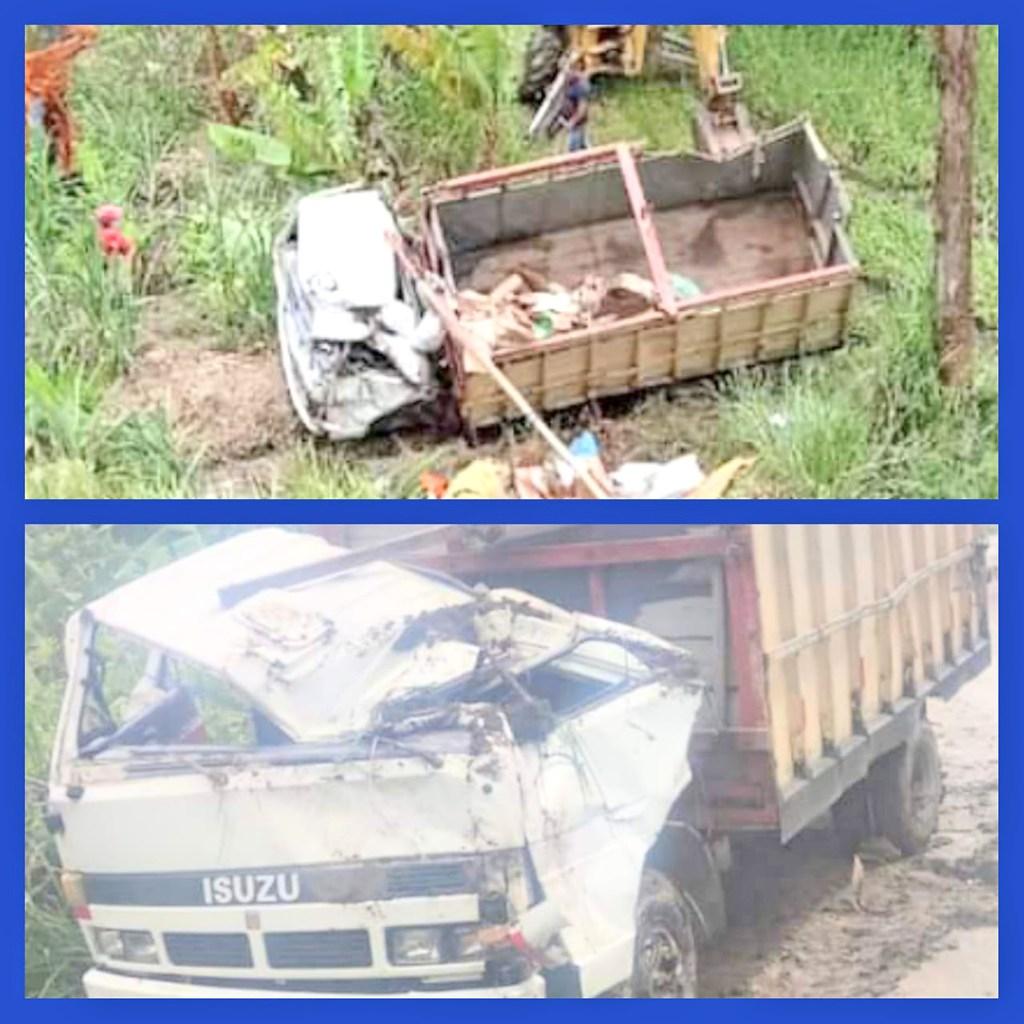 El percance ocurrió cuando el conductor pasó el puente de la parroquia Quinara.