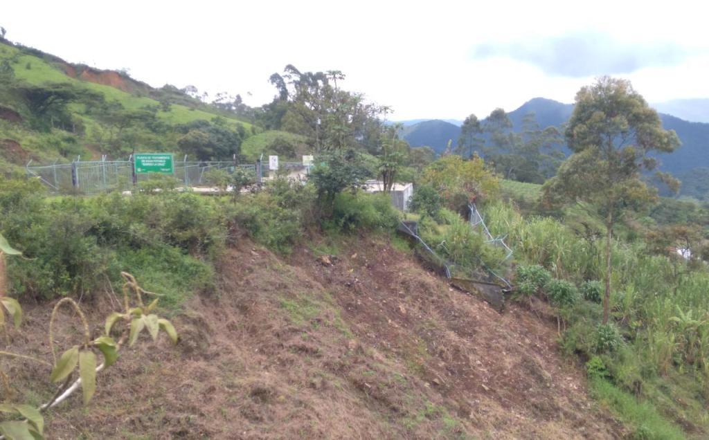 El aguacero originó daños en el sector donde está ubicada la planta de agua potable. (Foto cortesía Orli Renán Flores)