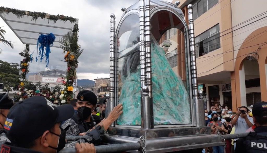 La Reina del Cisne llegó a las 17:00 a la ciudad, (Fotografía cortesía Multicanal Catamayo)