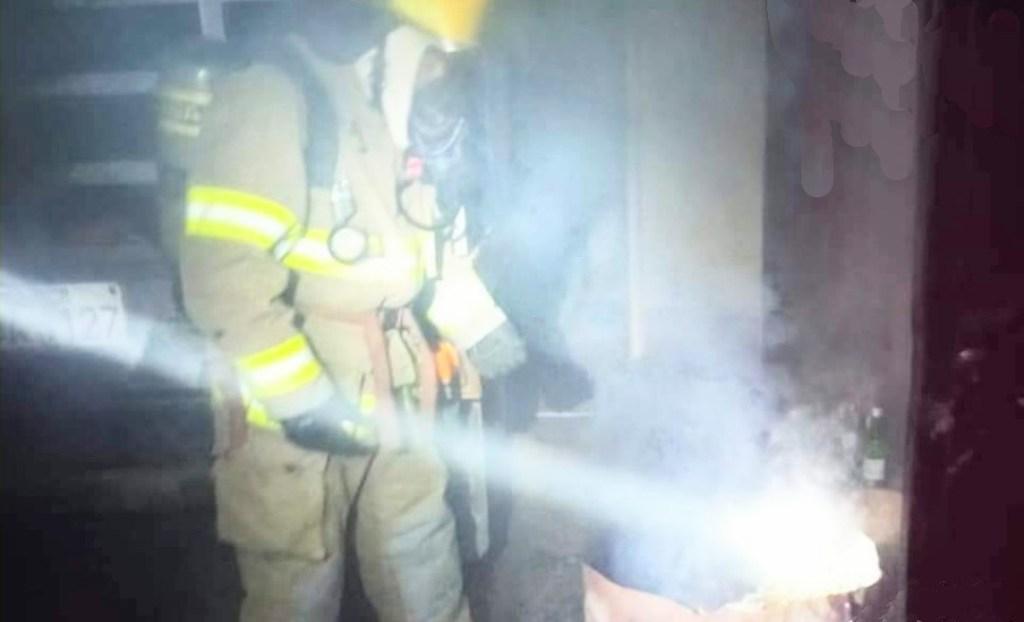 La alerta del incendio estructural no fue real.