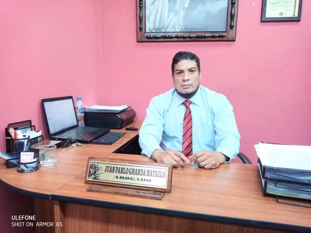 Pablo Granda Matailo, abogado en libre ejercicio profesional.
