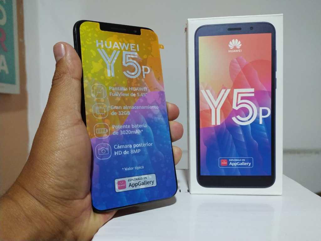 El primer premio es un teléfono celular marca Huawei, modelo Y5p.