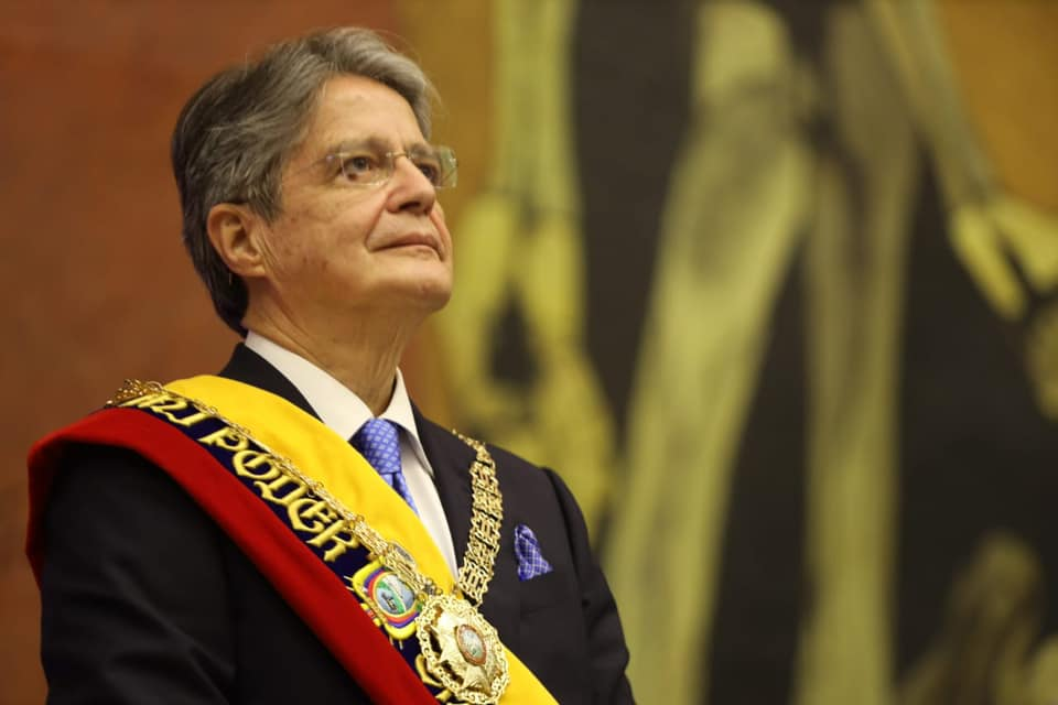 Guillermo Lasso Mendoza asumió oficialmente la presidencia del Ecuador este lunes 24 de mayo de 2021.