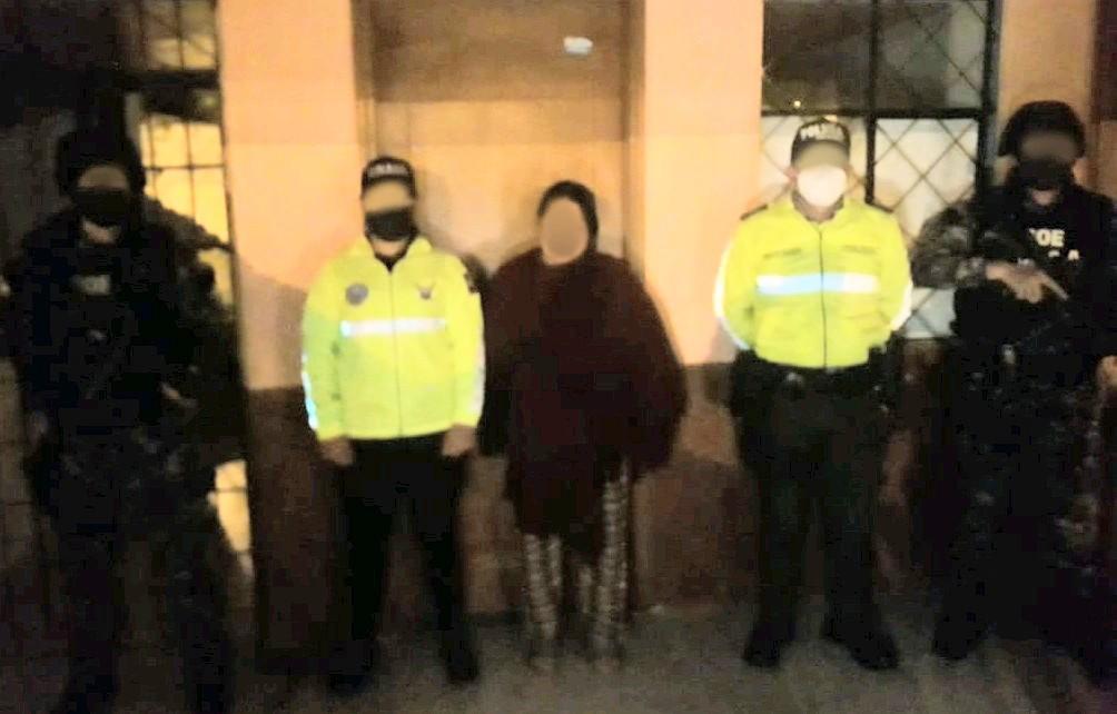 La mujer fue detenida en el cantón Saraguro.