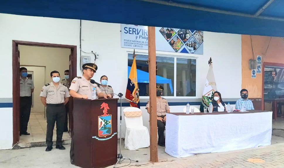 La dependencia policial está ubicada en las calles Loja y 24 de Mayo.