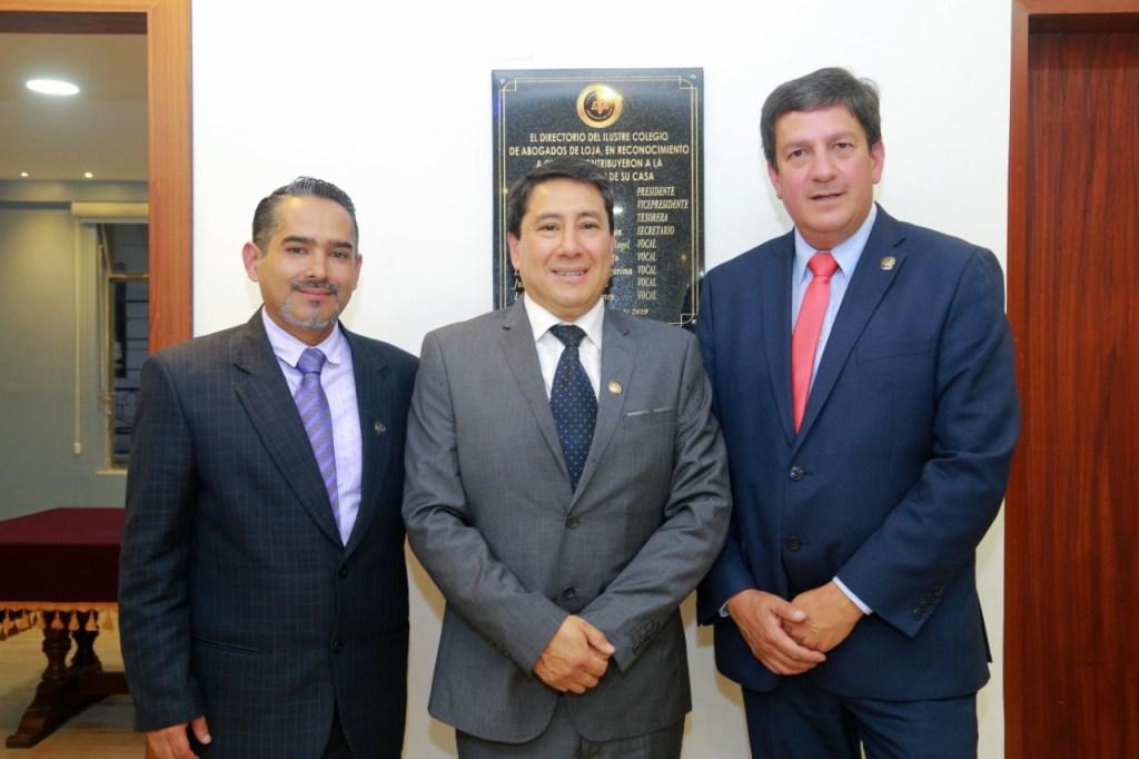 José Silverio, Boris Aguirre y César Guerrero.