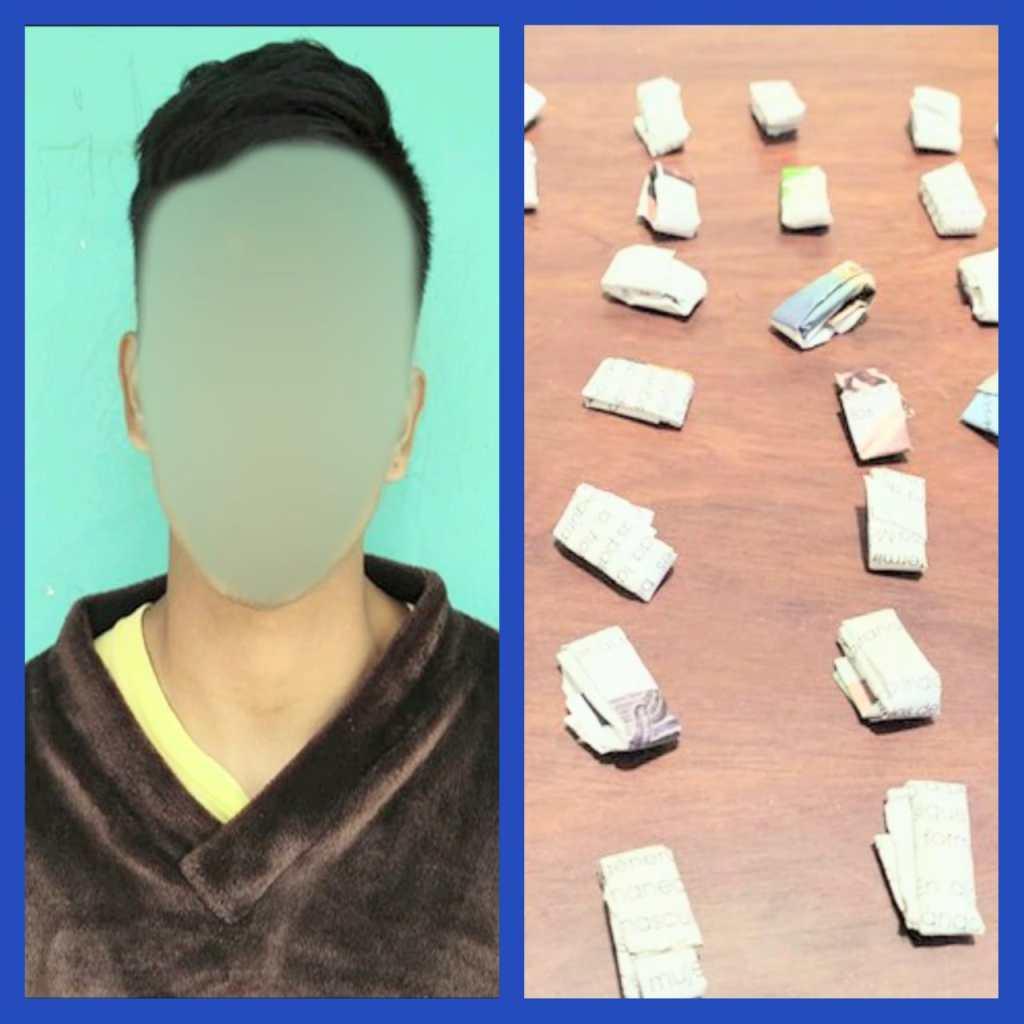 La droga que él tenía fue analizada con la Prueba de Identificación Preliminar Homologada.