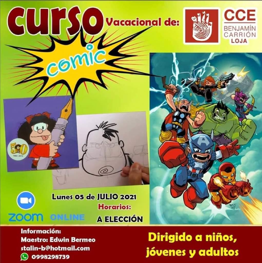 Los asistentes aprenderán a crear, dibujar y pintar historietas.