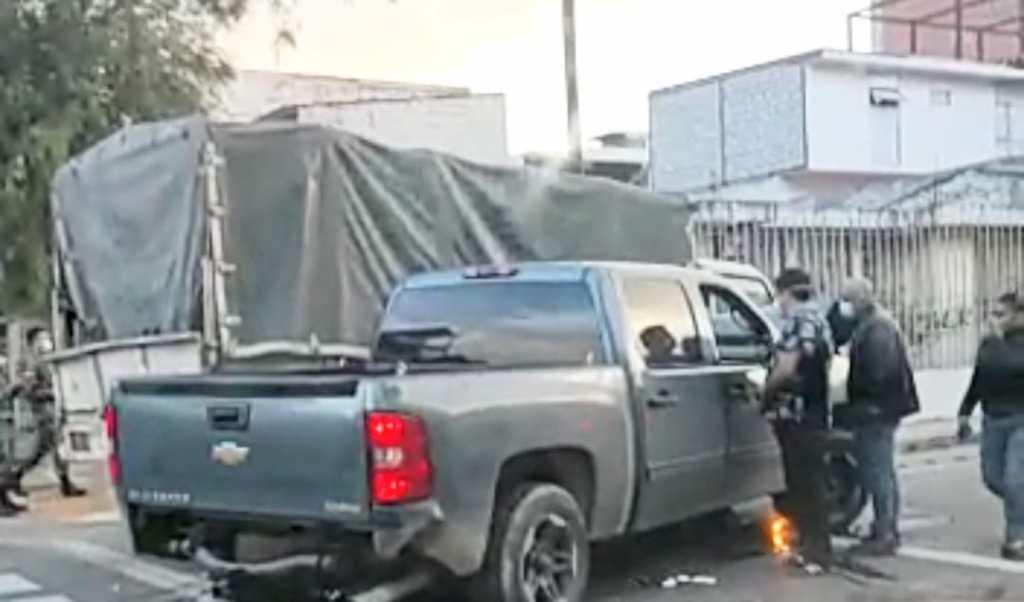 Al lugar acudieron los agentes civiles de Tránsito.