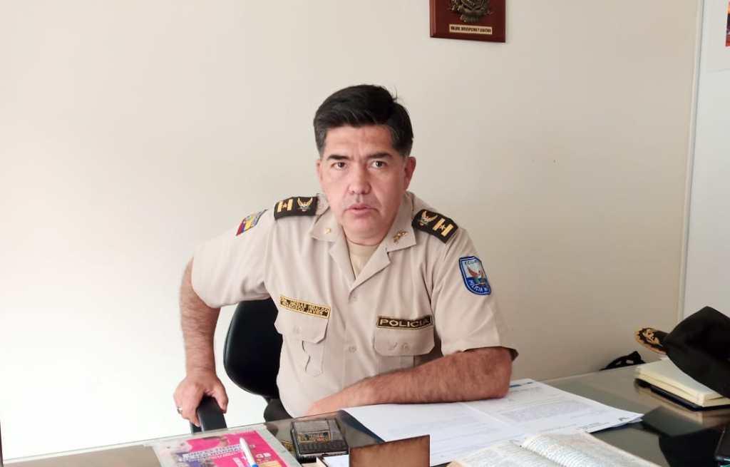 Francisco Mesías Hidalgo, jefe del distrito uno de la Policía del cantón Loja.
