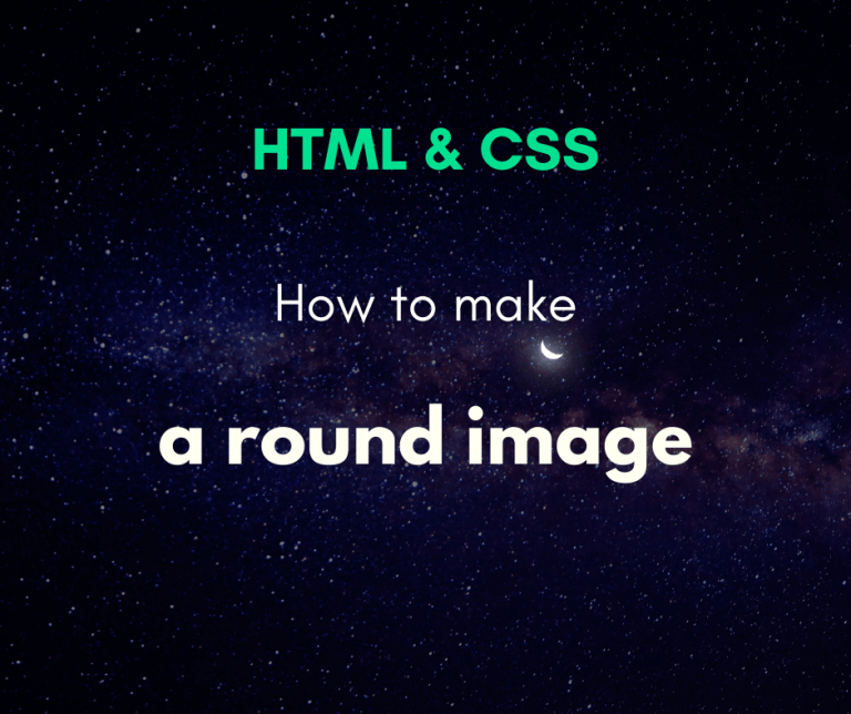 How to make a round image with CSS capa