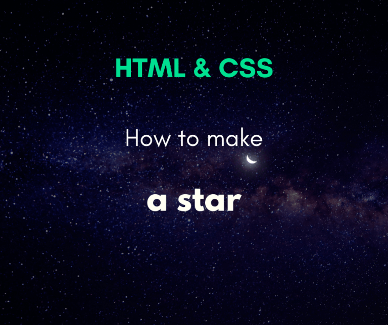 how to create a star with CSS cover