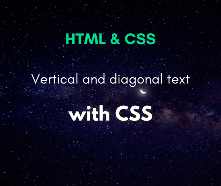 write texts diagonally and vertically using CSS cover