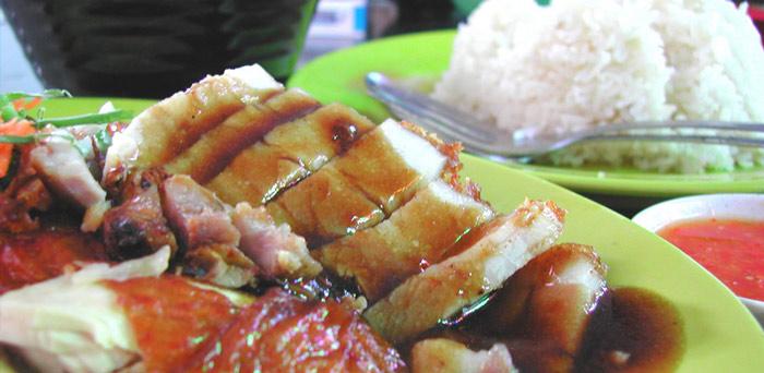 viaje a Singapur arroz cerdo
