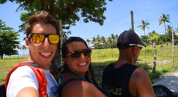 transporte moto musy y ale en isla de malapascua
