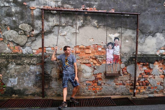 Cuidad interctiva penang malasia ruta por