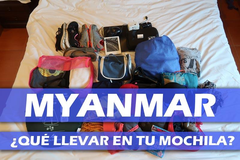 Viajar a Myanmar que llevo mochila