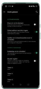 Captura de pantalla de Android 10