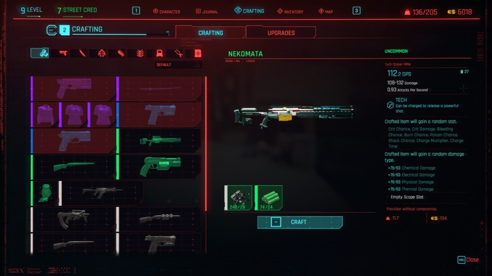 Cyberpunk-Unlimited-Crafting-XP
