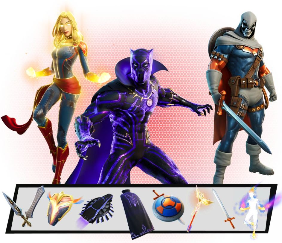 Estilo adicional de pieles de Marvel