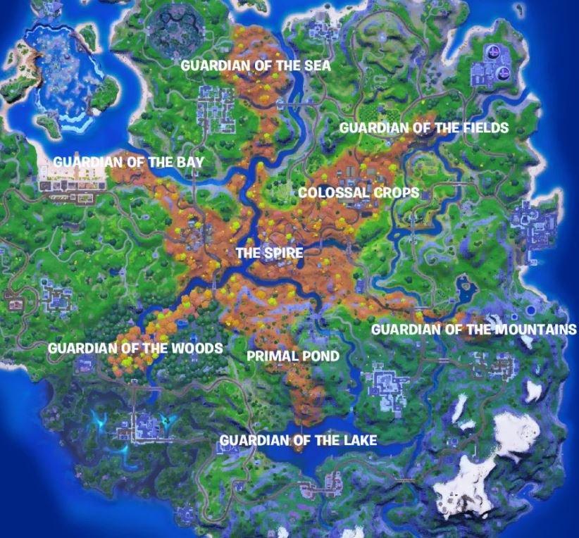 Mapa de la temporada 6 de Fortnite