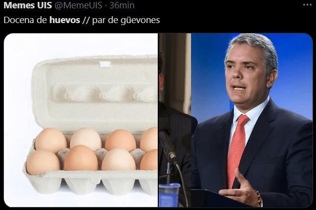 Memes de los huevos a 1800 pesos en Colombia por carrasquilla