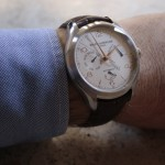 En la muñeca: Baume & Mercier Clifton Retrograde