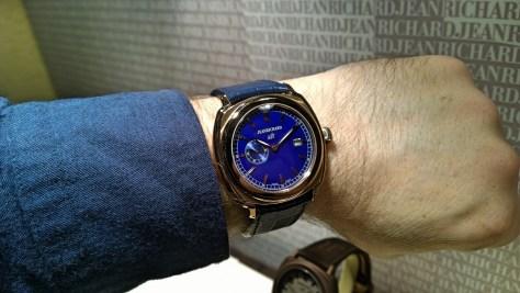 JeanRichard 1681 Blue Dial en oro rosa