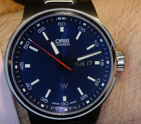 Oris Williams Day Date esera azul - frontal