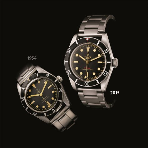 Tudor Heritage Black Bay Only Watch y modelo original