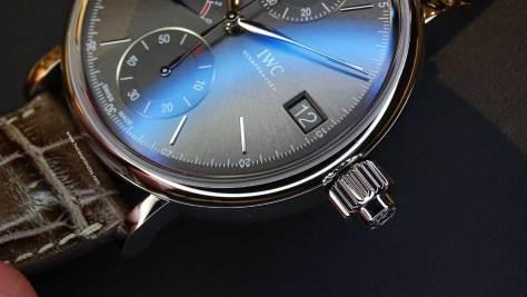 IWC Portofino Hand-Wound Monopusher Chronograph corona 1